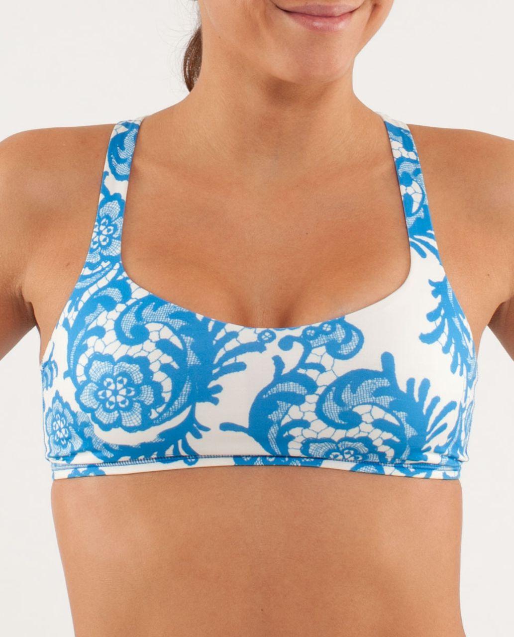 cdaaa7cf48c57 Lululemon Free To Be Bra - Laceoflage Polar Cream Beaming Blue ...