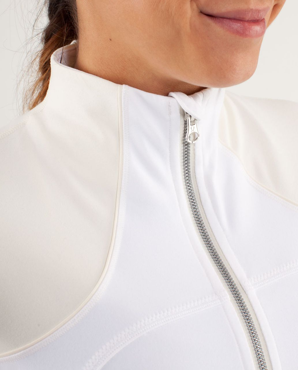 Lululemon Forme Jacket *Brushed - White / Polar Cream
