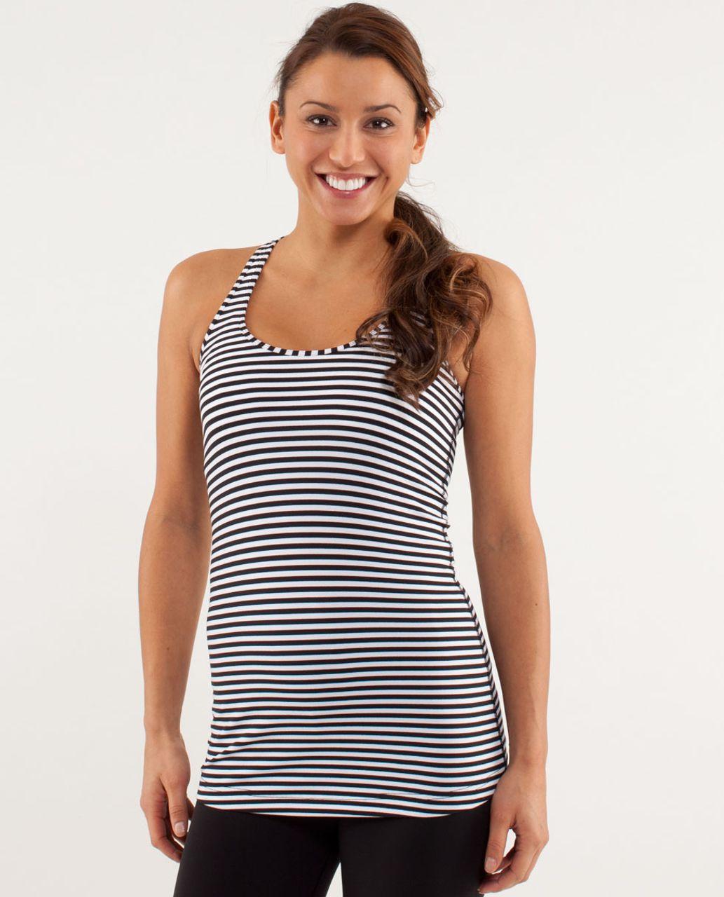 Lululemon Cool Racerback - Classic Stripe Black White / Black