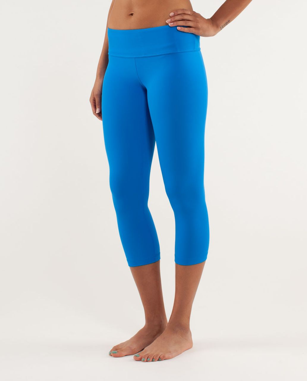 Lululemon Wunder Under Crop *Silver - Beaming Blue