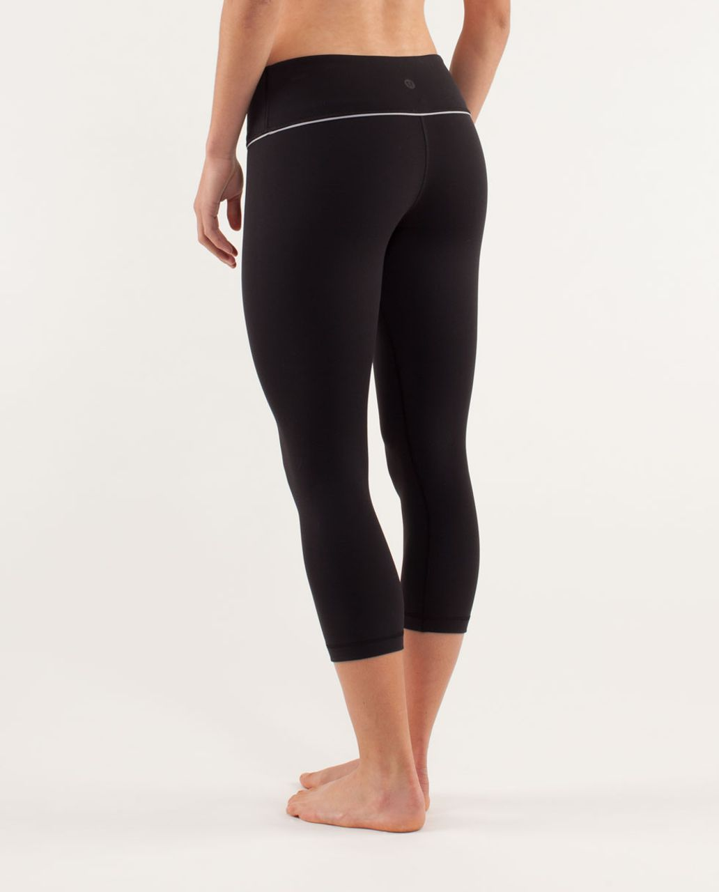 Lululemon Wunder Under Crop *Silver - Black / Silver Slate
