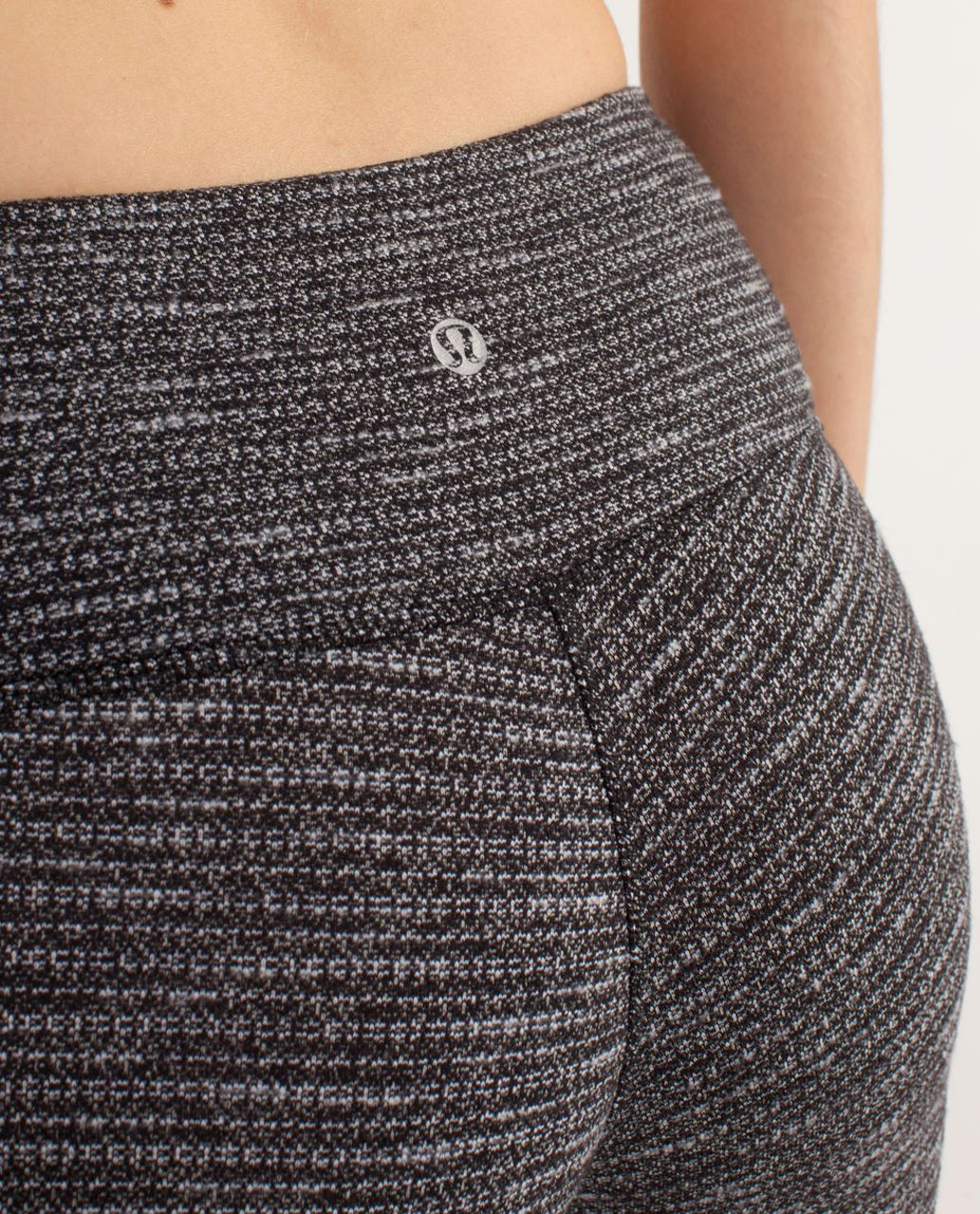Lululemon Wunder Under Crop - Coco Pique Black / Black