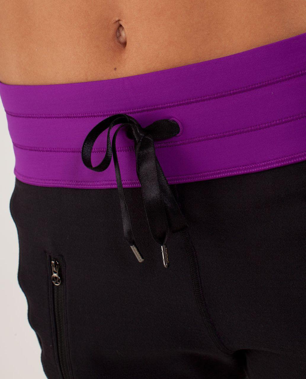 Lululemon Run:  Make A Move Pant - Black / Tender Violet