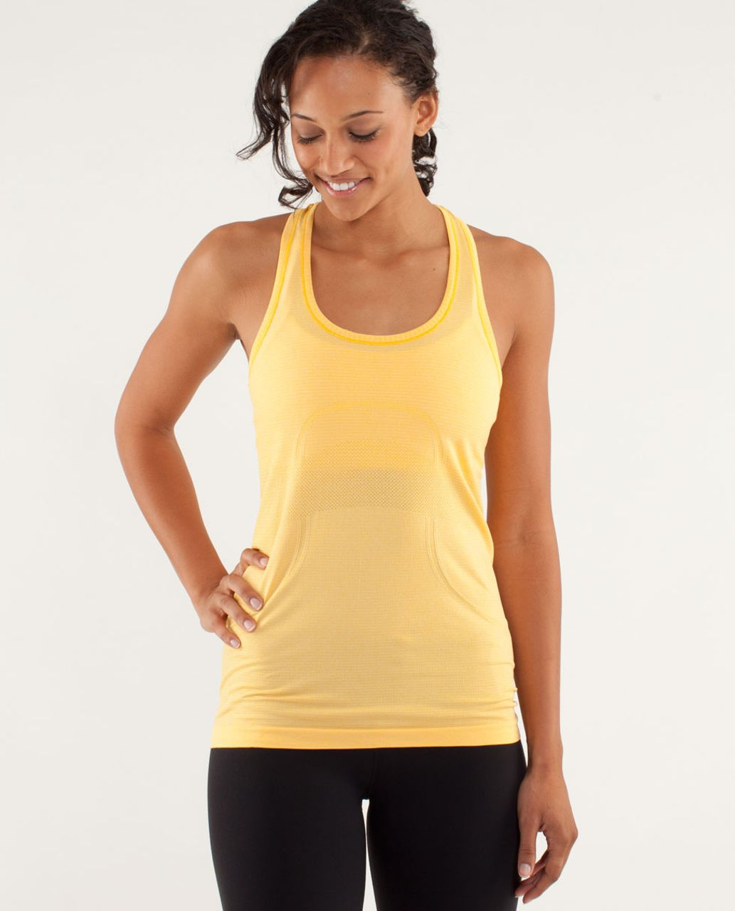 bc3e503fcf Lululemon Run  Swiftly Tech Racerback - Burning Yellow - lulu fanatics