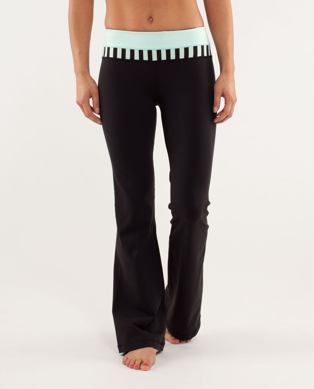 Lululemon Groove Pant *New (Regular) - Black / Mint Moment / Sea Stripe Mint Moment Black