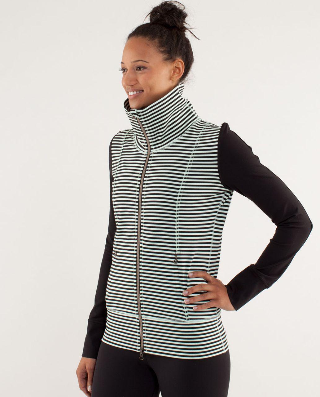 ecde76dc0b Lululemon Daily Yoga Jacket - Classic Stripe Mint Moment Black ...