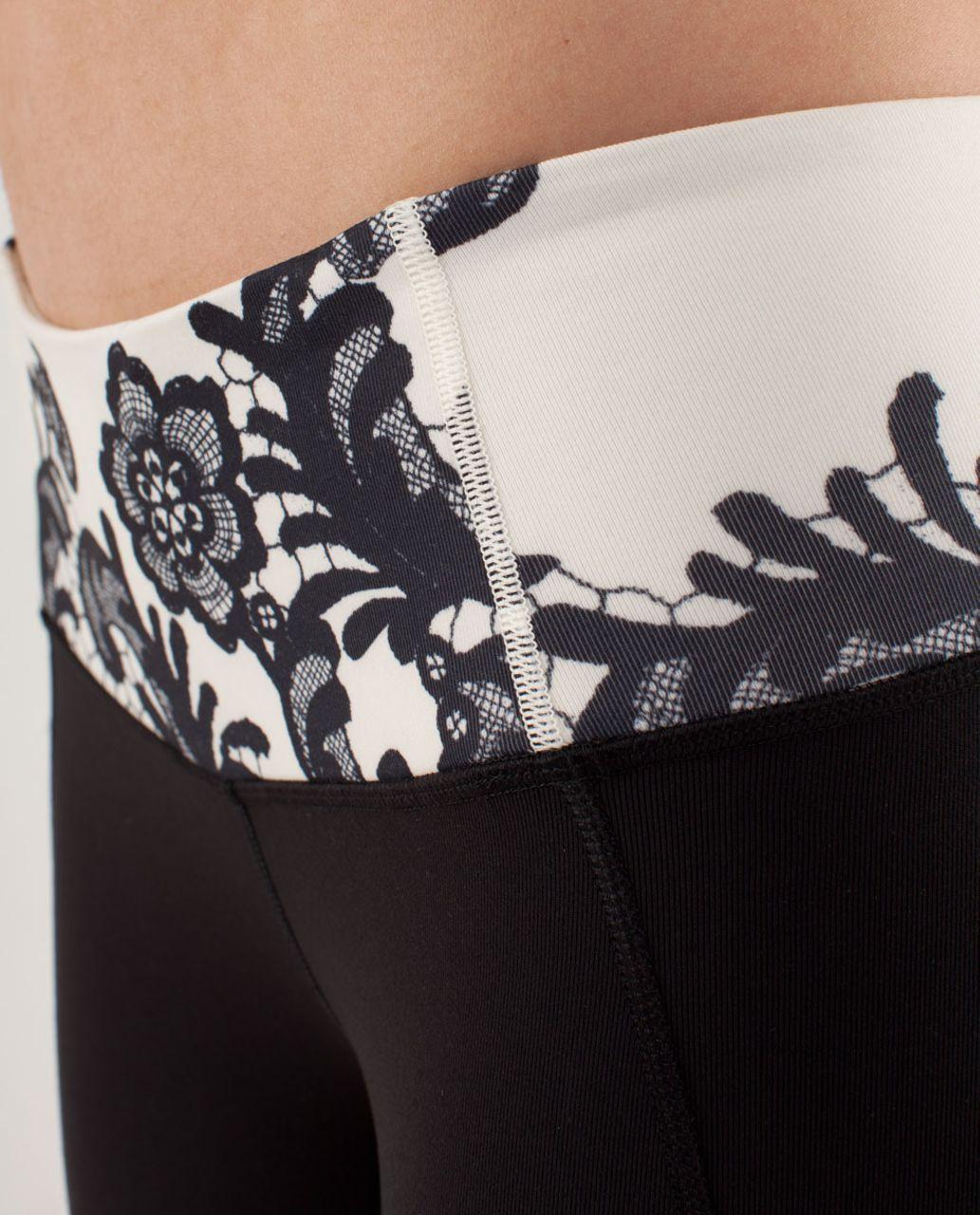 Lululemon Gather & Crow Crop - Black / Laceoflage Polar Cream Black / Polar Cream