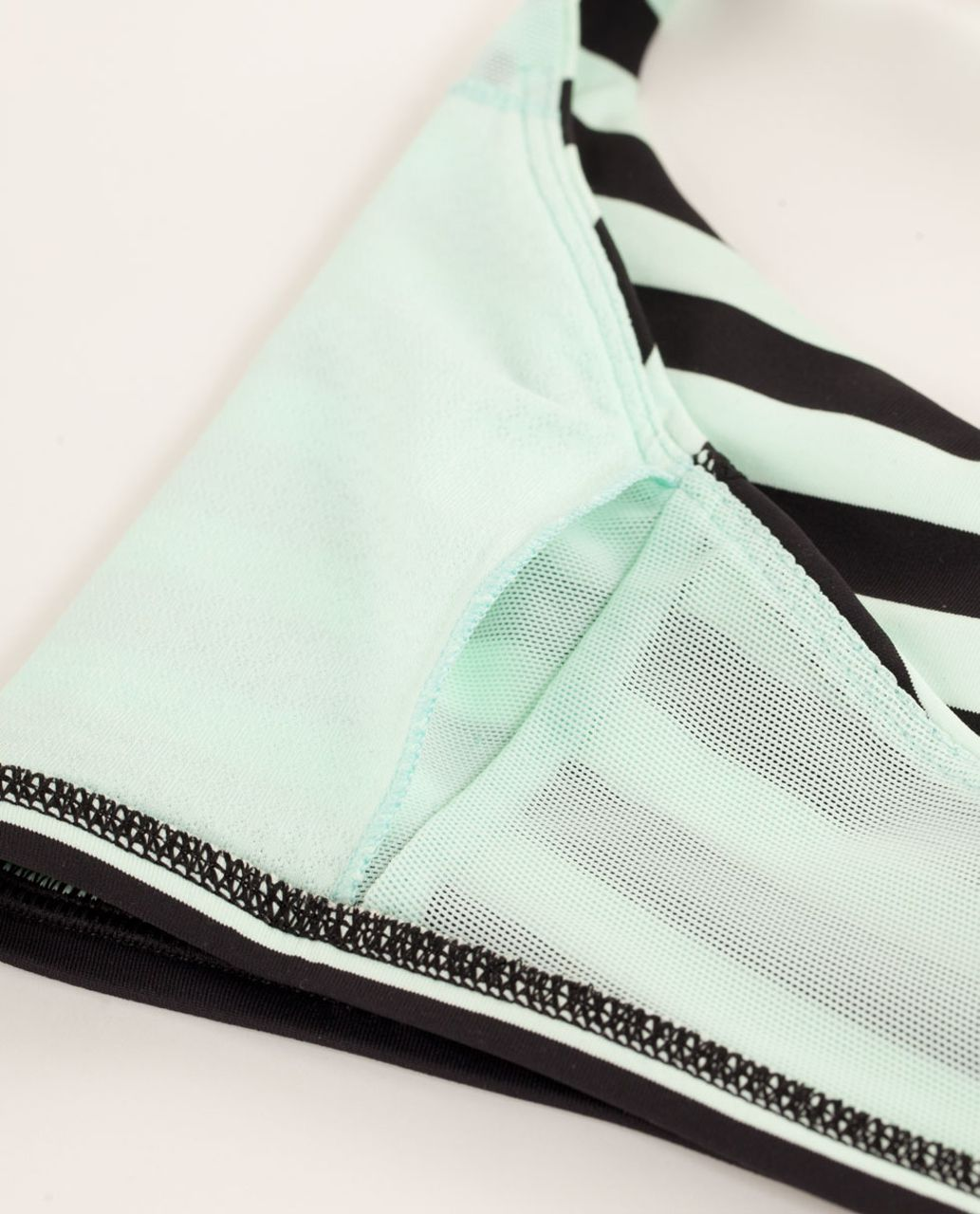 Lululemon Free To Be Bra - Sea Stripe Mint Moment Black