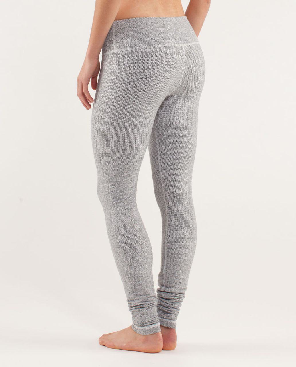 c077f86694 Lululemon Wunder Under Pant - Herringbone White Black / Black - lulu  fanatics