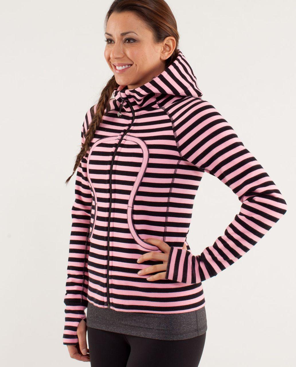 Lululemon Scuba Hoodie *Stretch - Sea Stripe Pink Shell Black