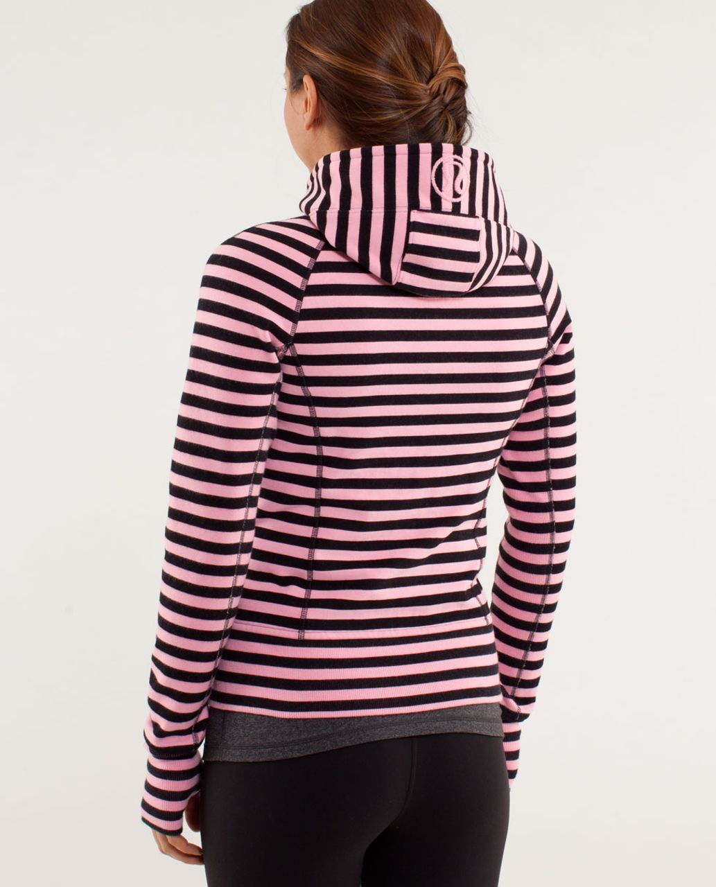 Lululemon Scuba Hoodie *Stretch - Sea Stripe Pink Shell Black