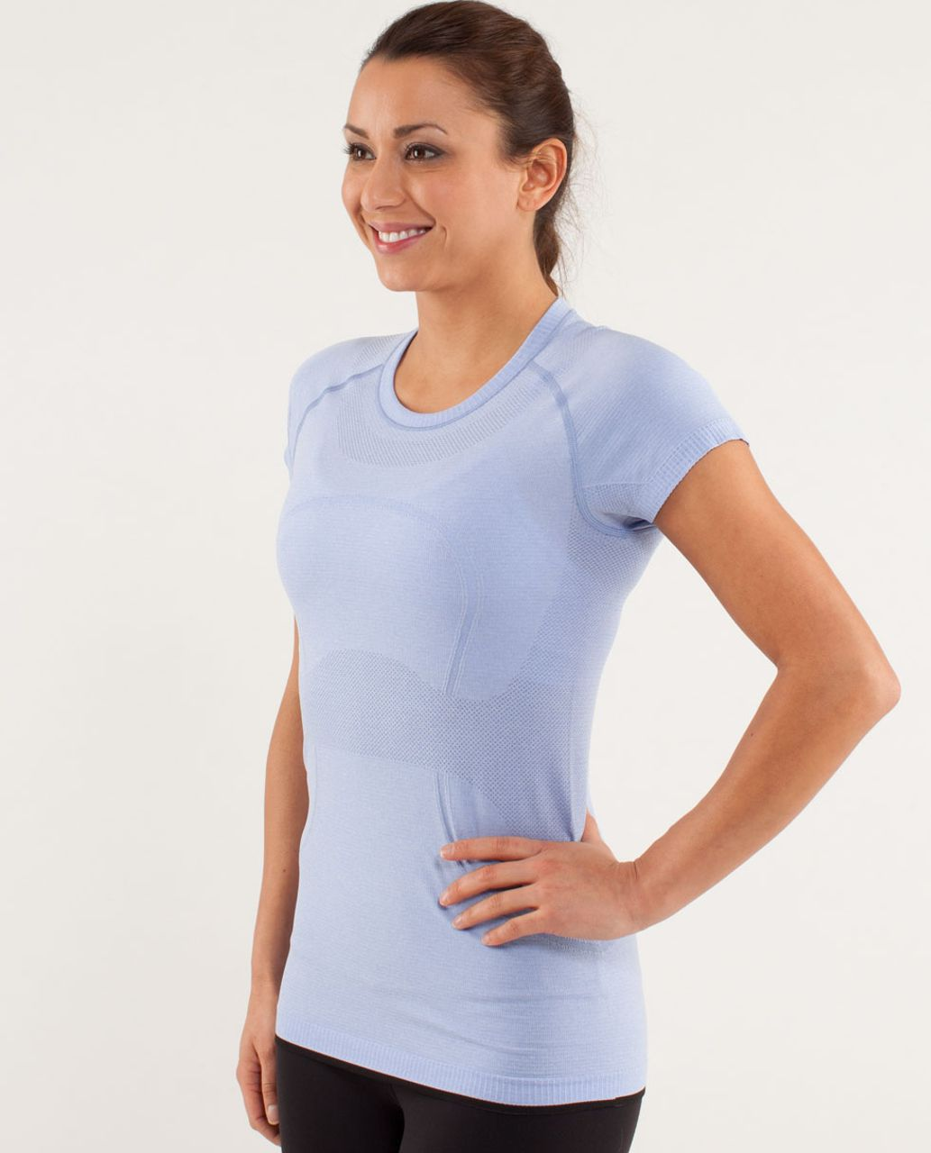 Lululemon Run:  Swiftly Tech Short Sleeve - Polar Haze / Black