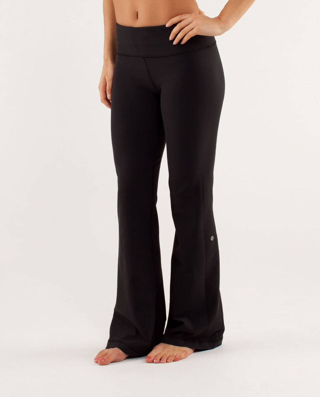 Lululemon Groove Pant *New (Tall) - Black / Sea Stripe Polar Haze Black / Polar Haze