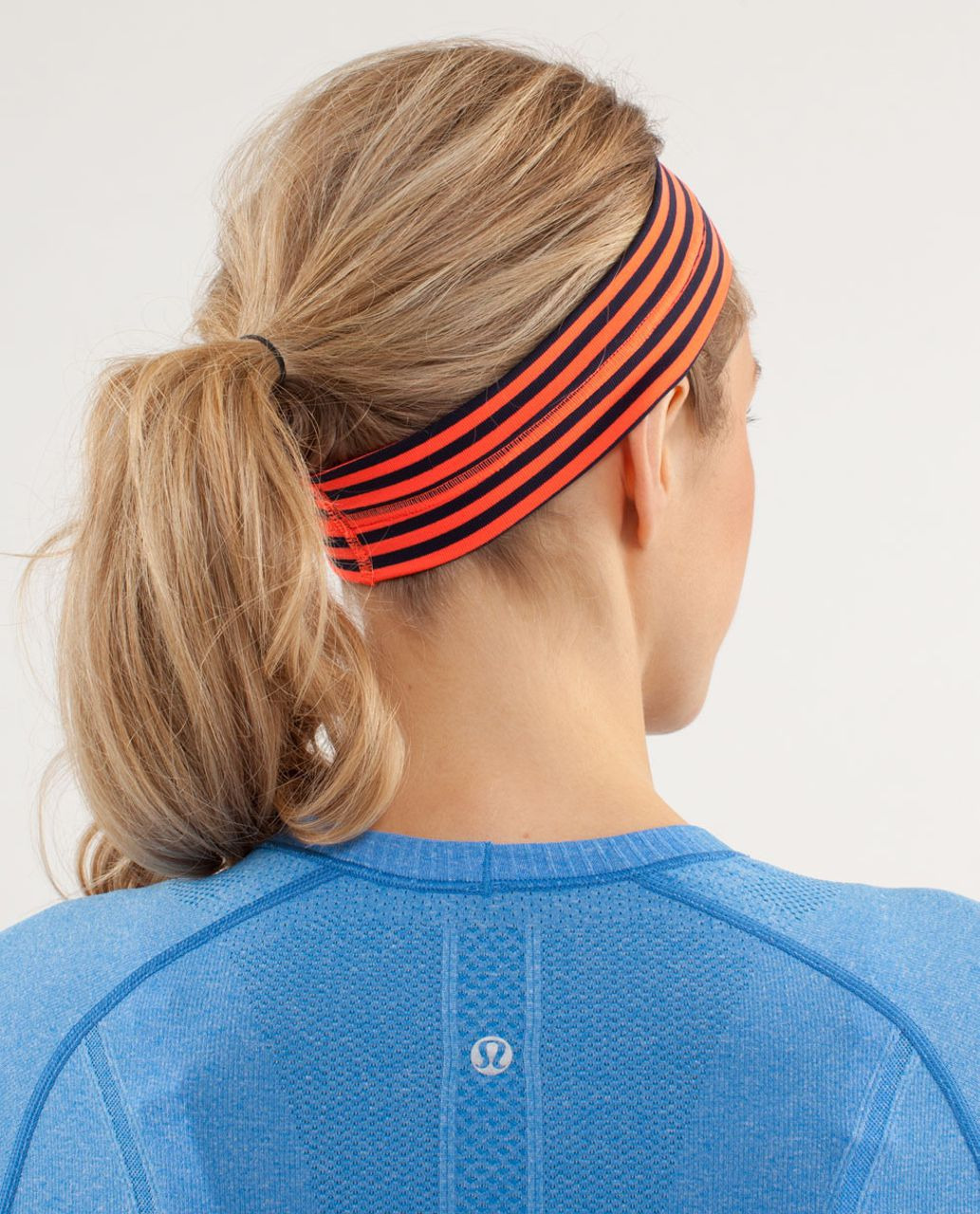 Lululemon Fly Away Tamer Headband - Classic Stripe Light Flare Inkwell