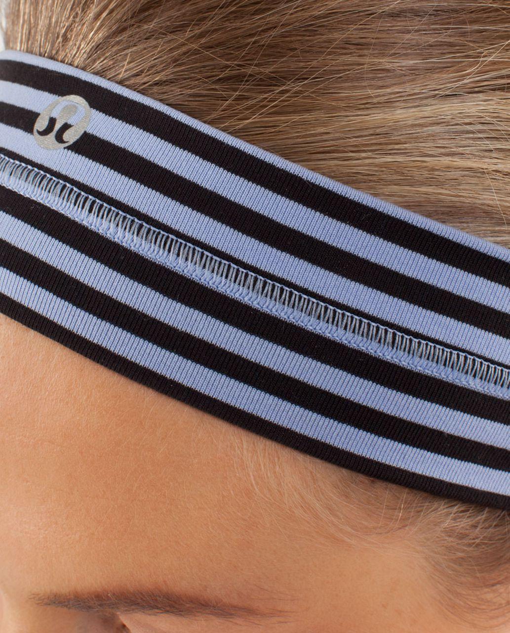 Lululemon Fly Away Tamer Headband - Classic Stripe Polar Haze Black