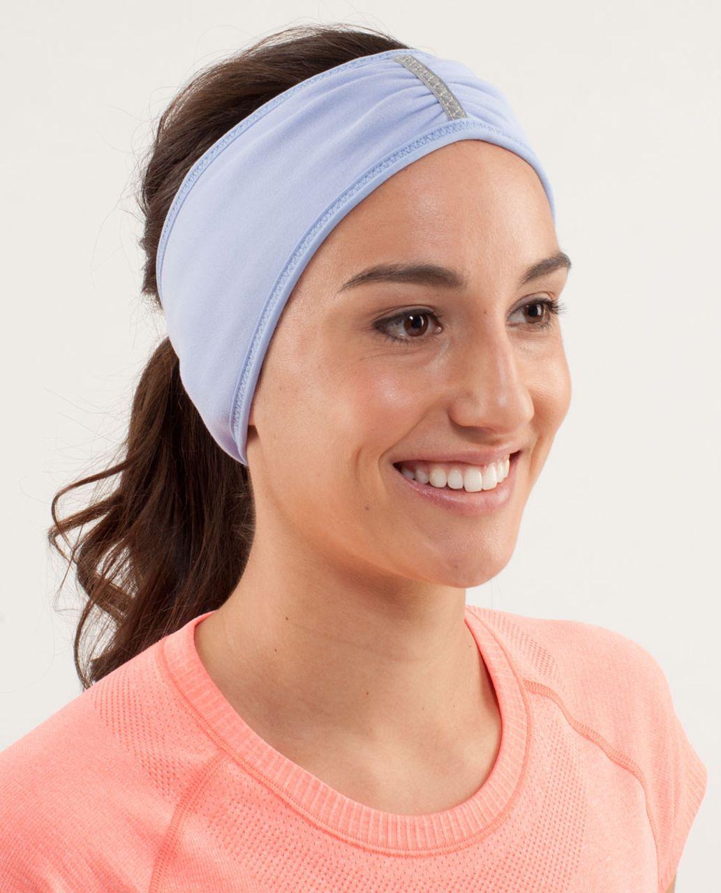 Lululemon Brisk Run Headband - Classic Stripe Polar Haze Black / Black