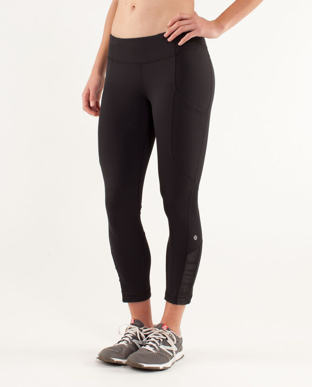 8aff82c0dd Lululemon Run: Reflect Crop - Black - lulu fanatics