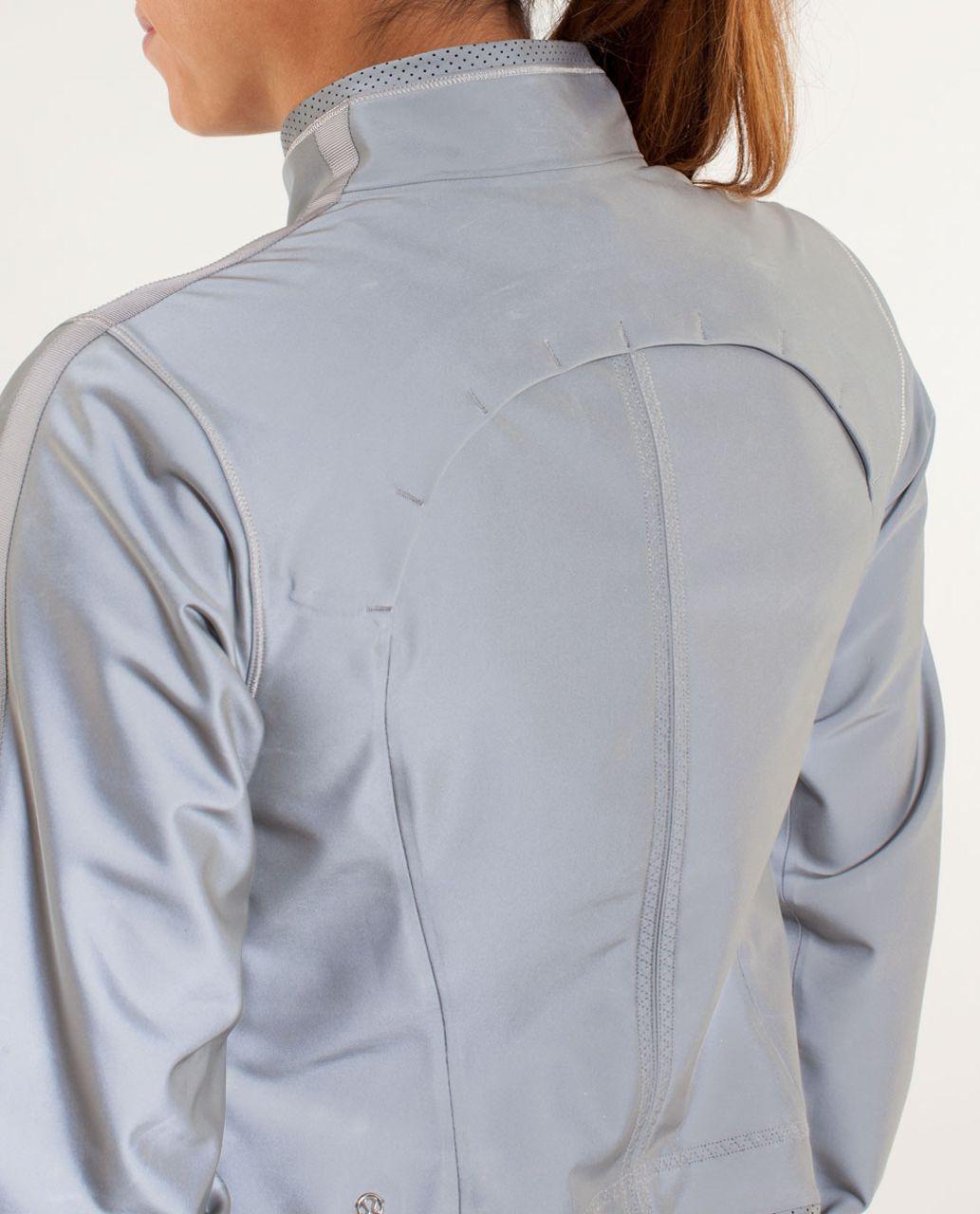Lululemon Run:  Reflective Jacket - Silver