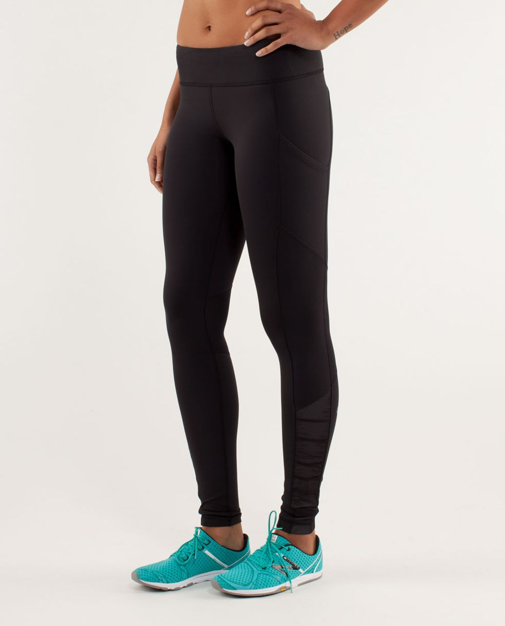 Lululemon Run:  Get Up And Glow Tight - Black