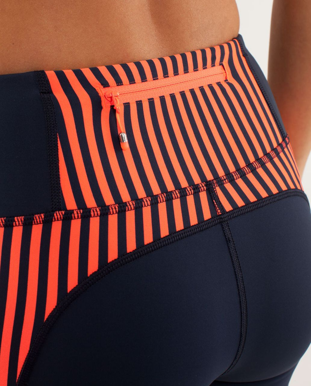 Lululemon Run:  Get Up And Glow Tight - Inkwell / Classic Stripe Light Flare Inkwell / Inkwell