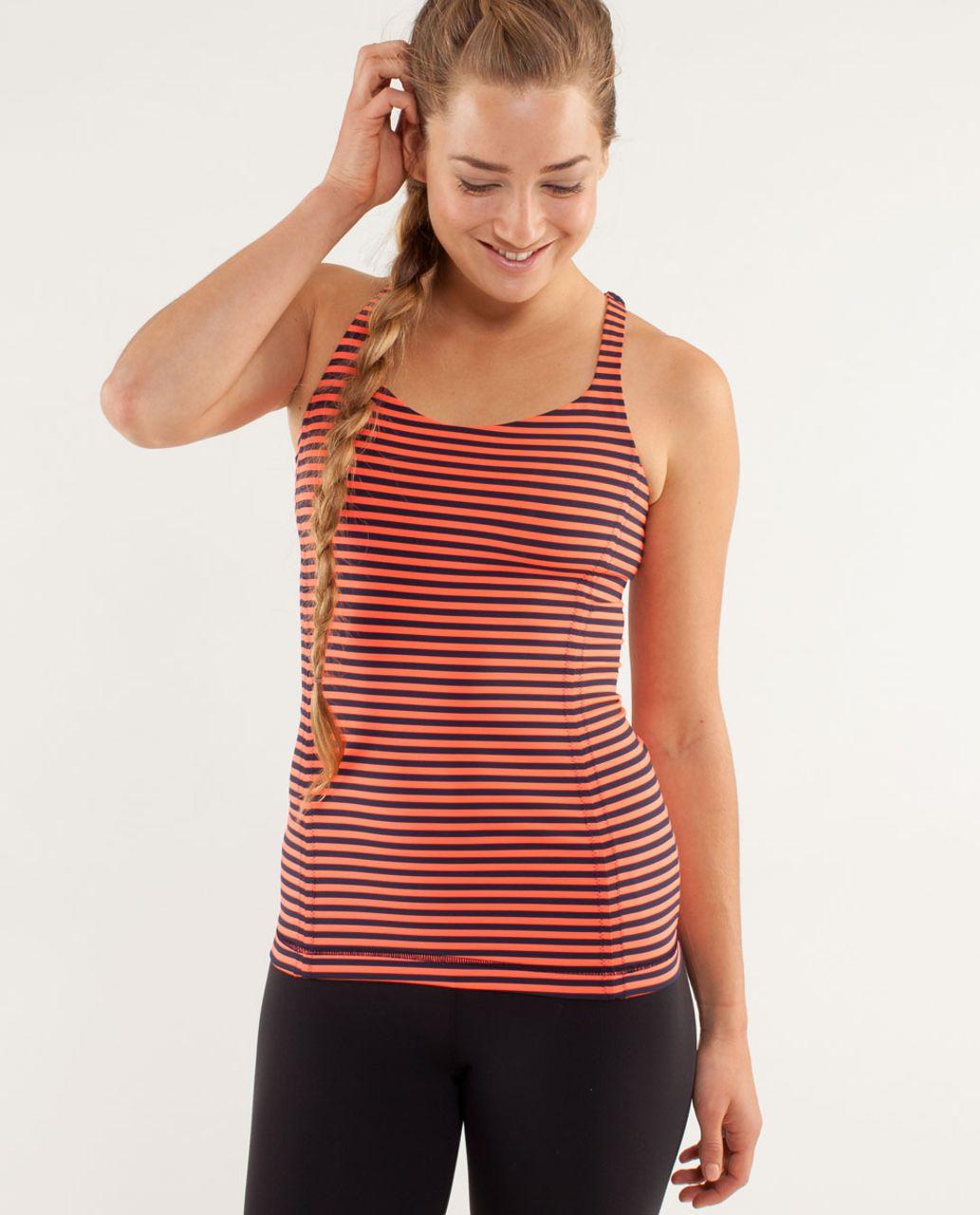 Lululemon Free To Be Tank - Classic Stripe Light Flare Inkwell / Sea Stripe Light Flare Inkwell