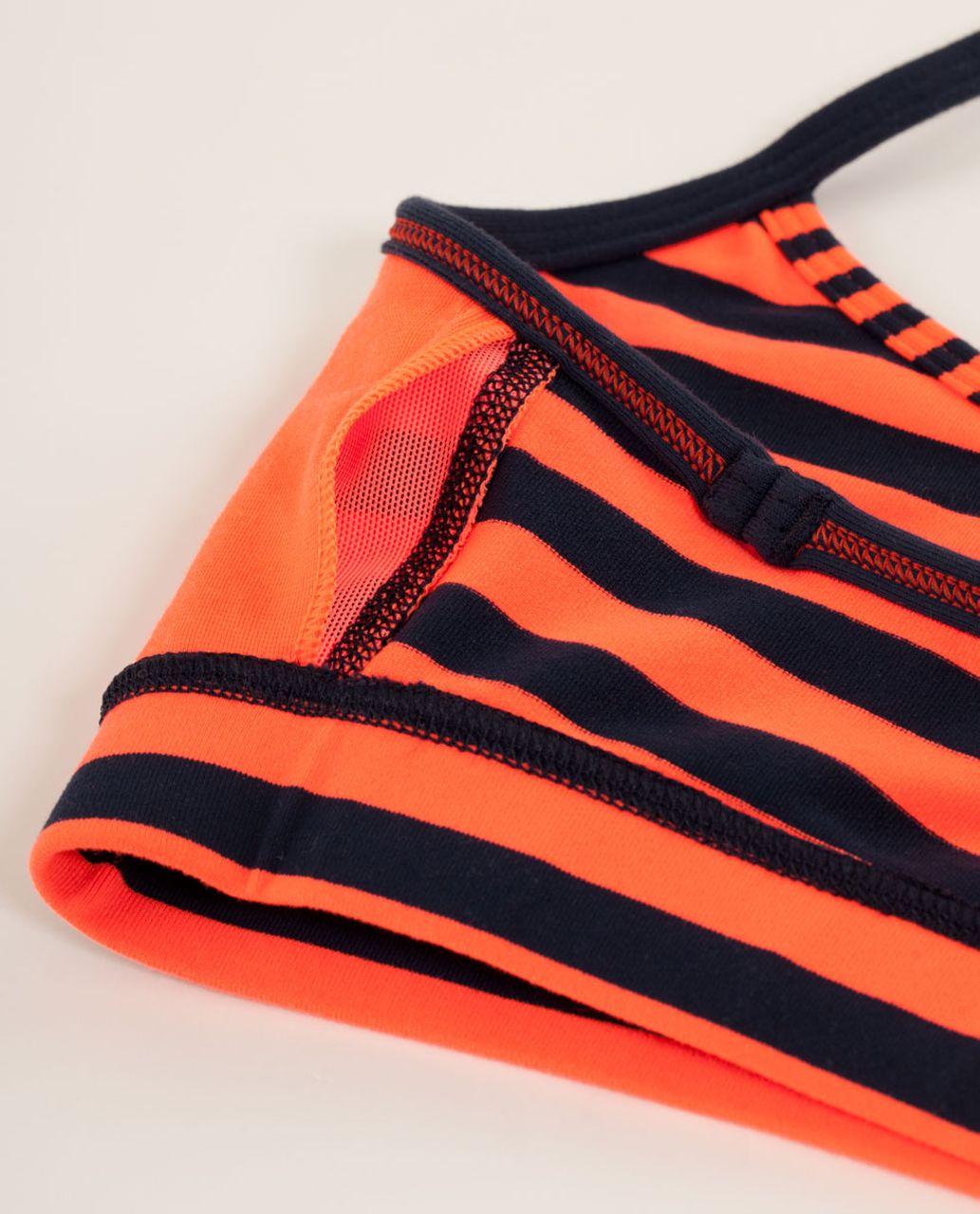 Lululemon Flow Y Bra IV - Sea Stripe Light Flare Inkwell / Inkwell / Classic Stripe Light Flare Inkwell