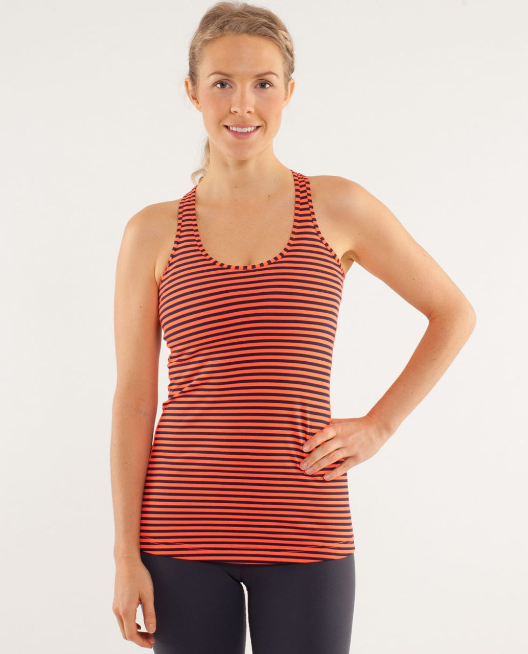 Lululemon Cool Racerback - Classic Stripe Light Flare Inkwell