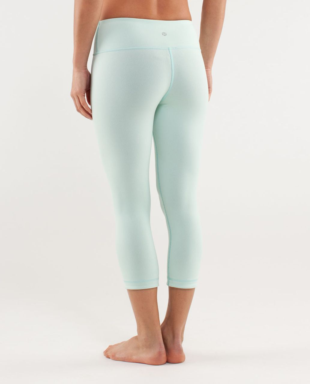 Lululemon Wunder Under Crop *Reversible - Mint Moment / Black