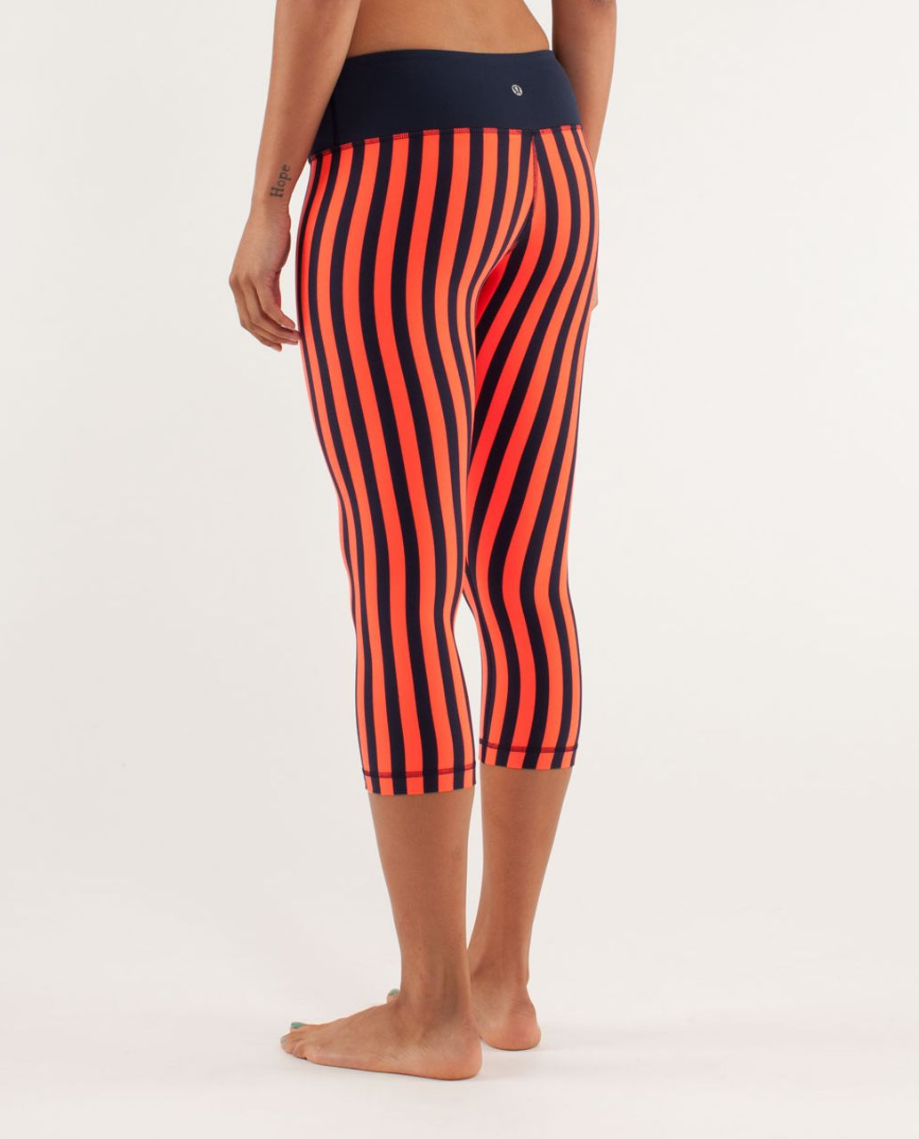 Lululemon Wunder Under Crop - Sea Stripe Light Flare Inkwell / Inkwell