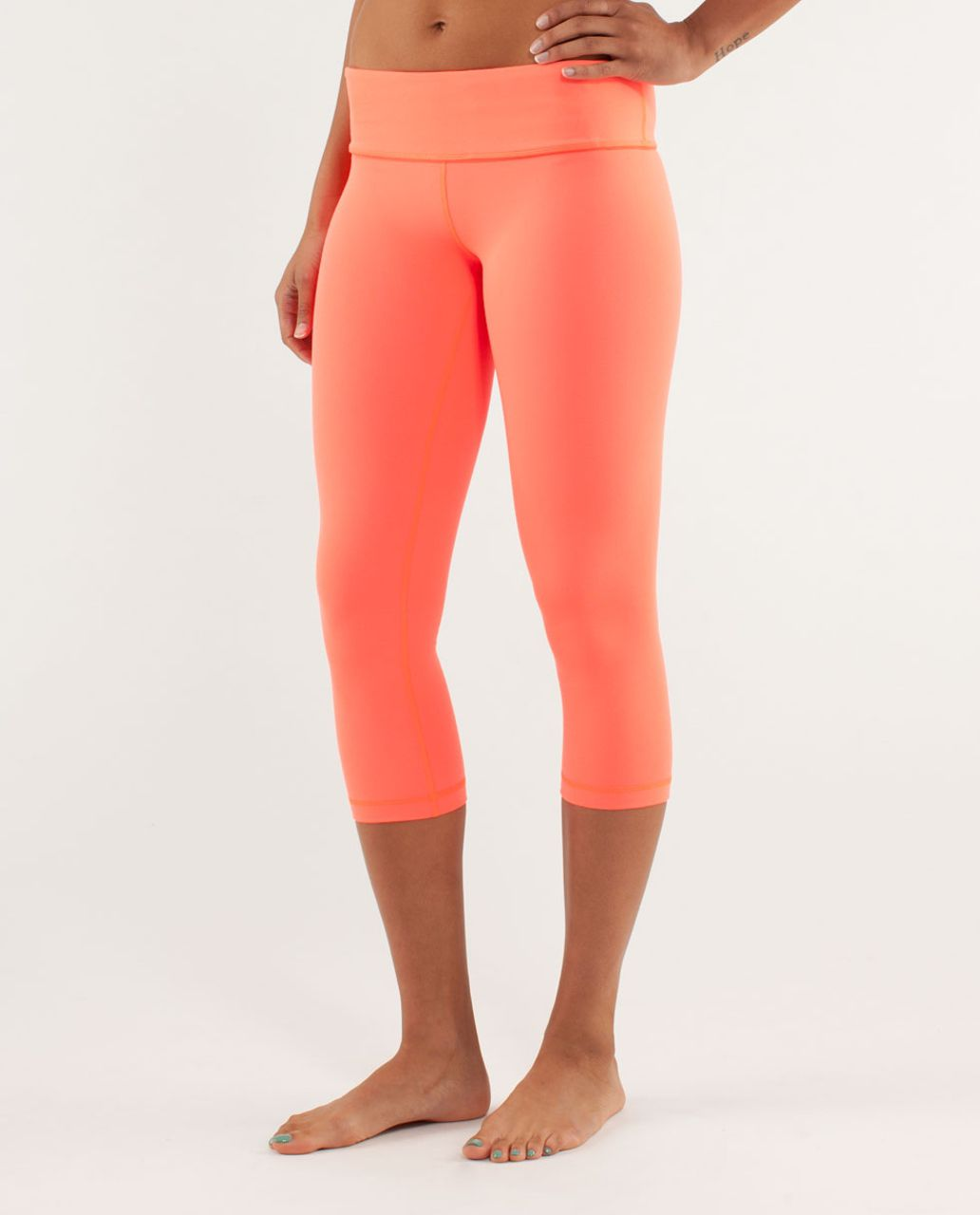 Lululemon Wunder Under Crop *Silver - Light Flare