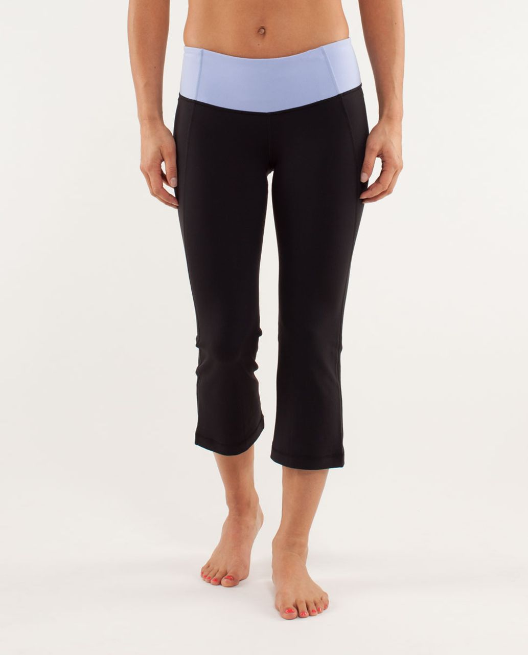 Lululemon Gather & Crow Crop - Black / Polar Haze / Sea Stripe Polar Haze Black