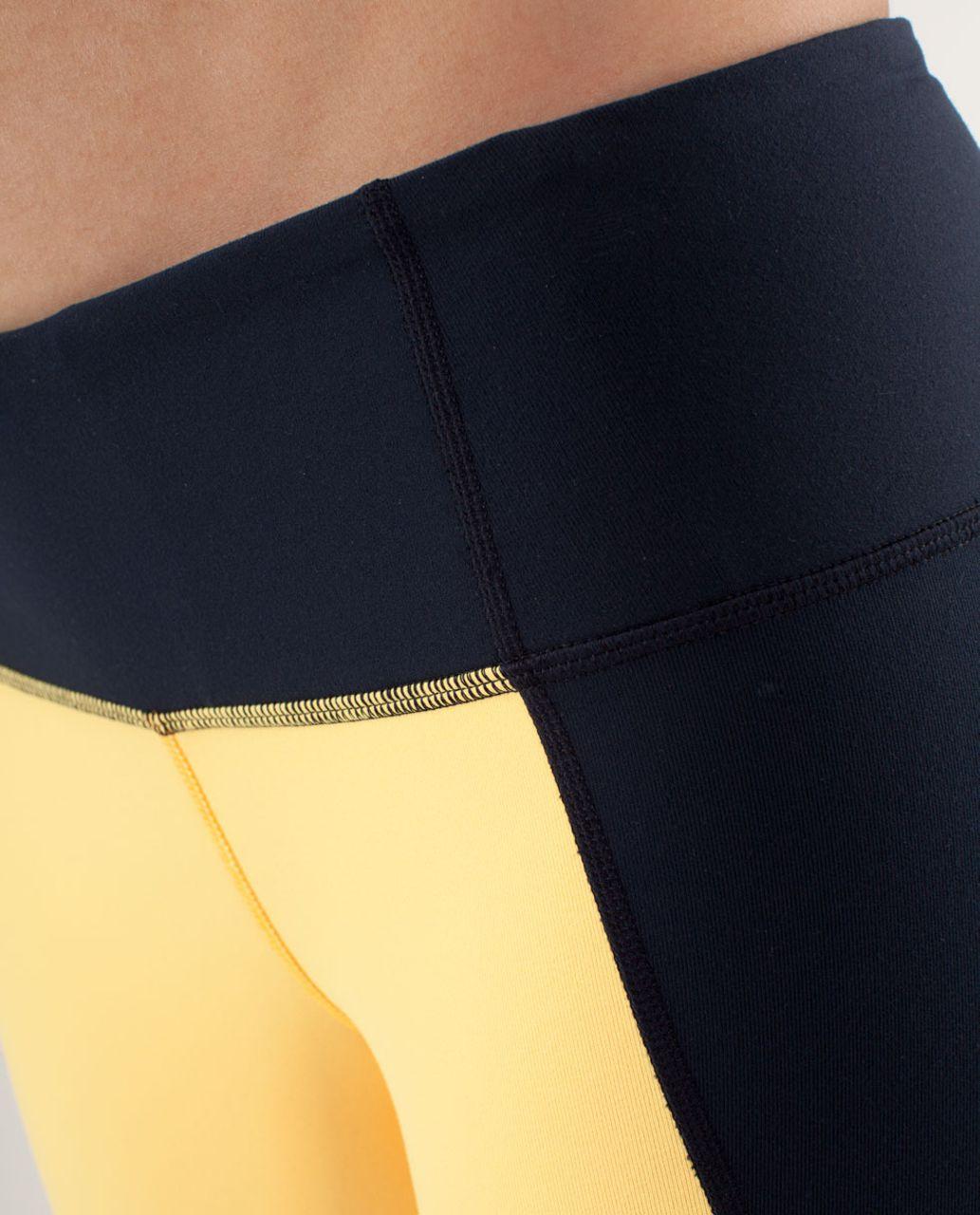 Lululemon Wunder Under Pant *Colour Blocked - Burning Yellow / Inkwell