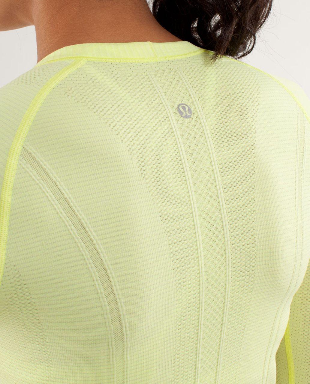 Lululemon Run:  Swiftly Tech Long Sleeve - Clarity Yellow / Inkwell
