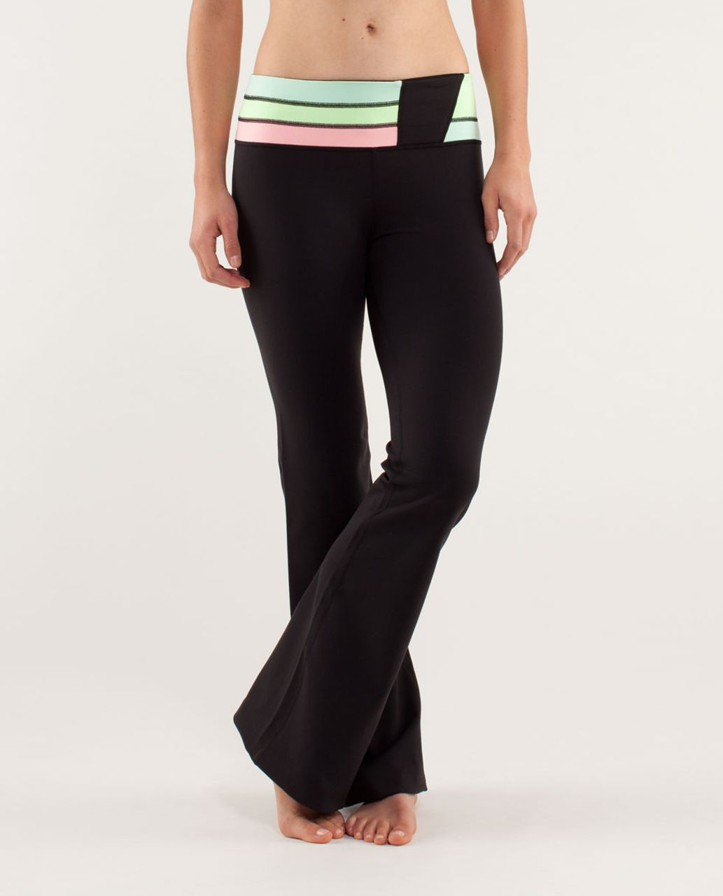 Lululemon Groove Pant *New (Regular) - Black / Quilt Spring13 7