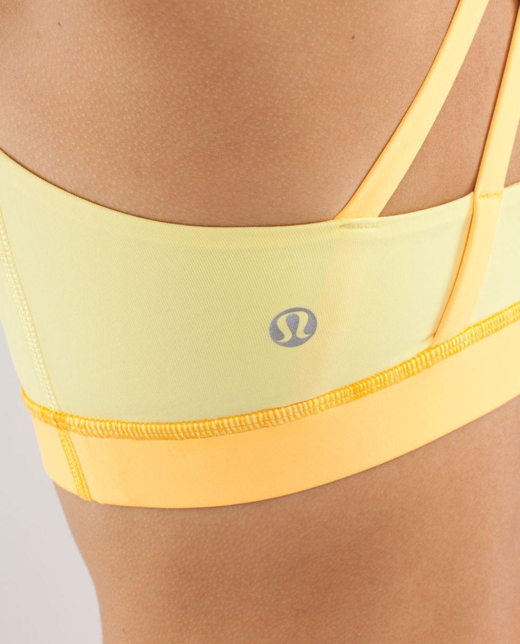 Lululemon Energy Bra - Mellow Lemon / Burning Yellow