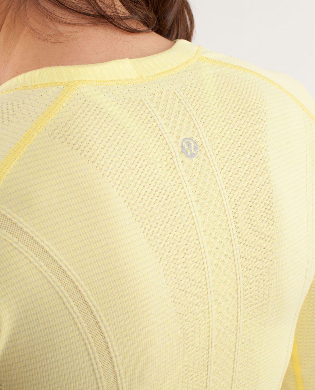 Lululemon Run:  Swiftly Tech Long Sleeve - Mellow Lemon
