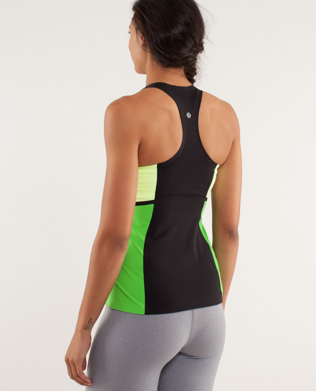 Lululemon Cool Racerback *Surf Bonded - Black / Faded Zap / Frond