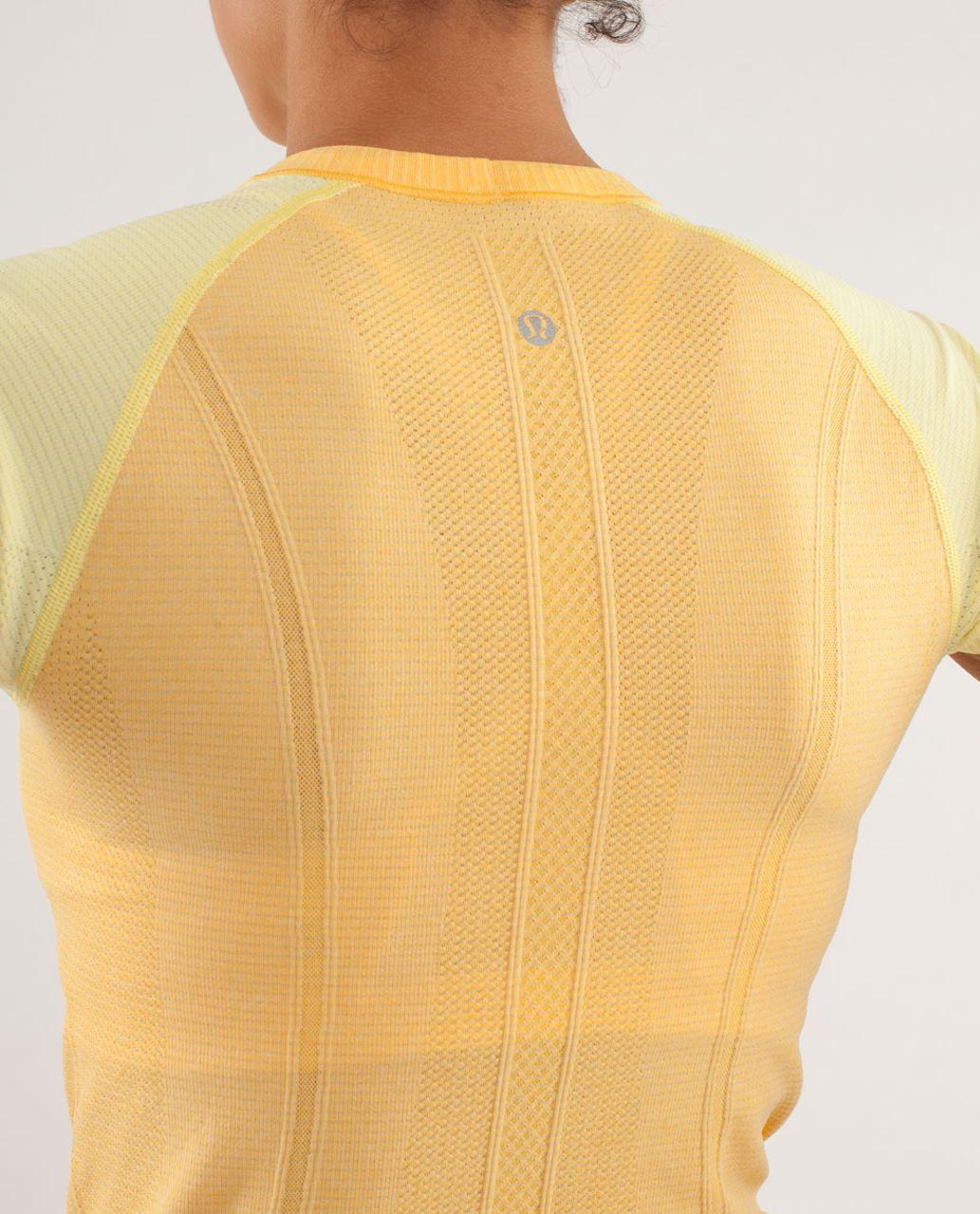 Lululemon Run:  Swiftly Tech Short Sleeve - Burning Yellow / Mellow Lemon