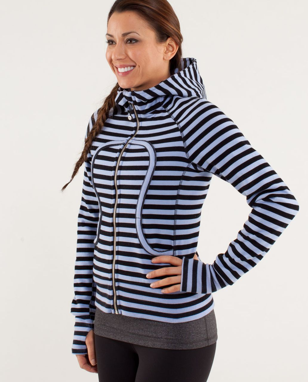 Lululemon Scuba Hoodie *Stretch - Sea Stripe Printed Polar Haze Black