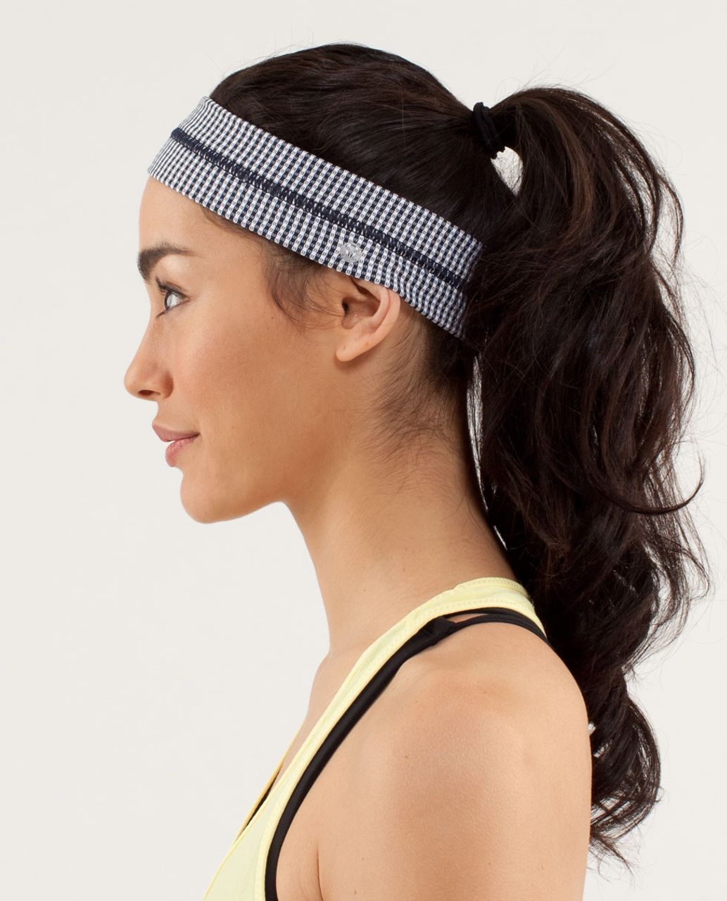 Lululemon Fly Away Tamer Headband - Inkwell (Gingham)