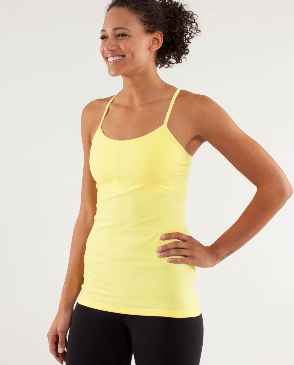 Lululemon Power Y Tank *Luon Light - Mellow Lemon