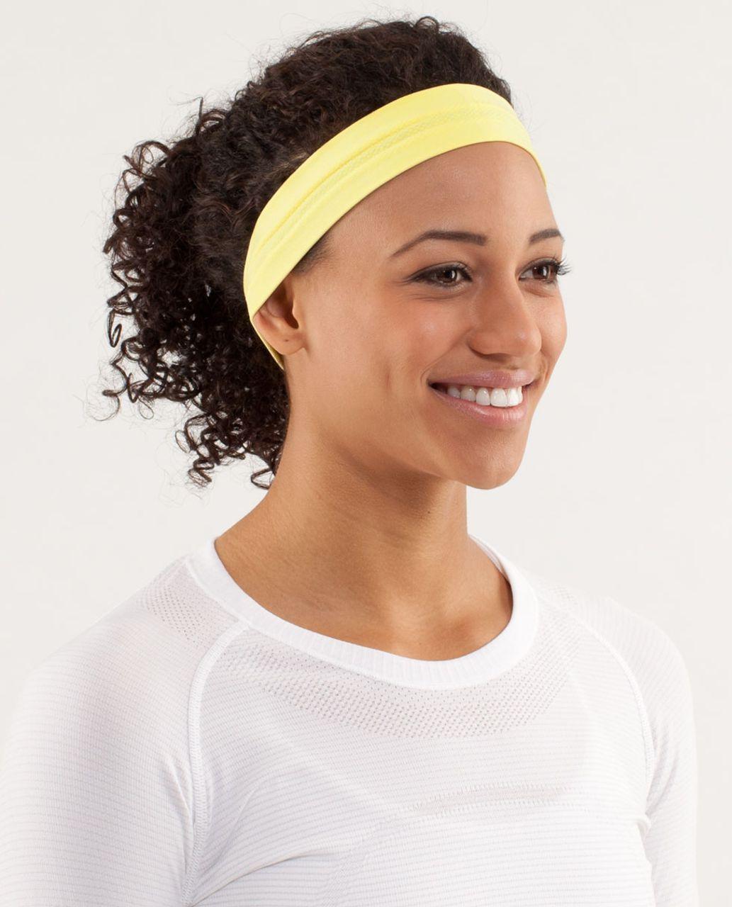 Lululemon Swiftly Headband - Mellow Lemon