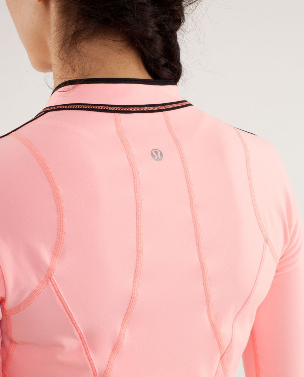 Lululemon Run:  Rise And Shine Pullover - Bleached Coral / Pop Orange