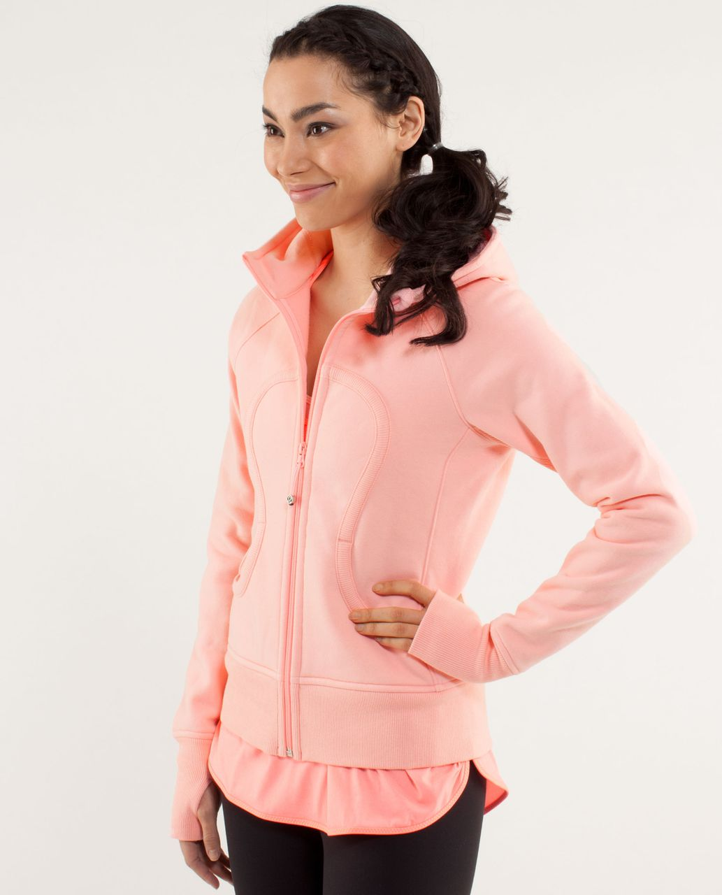 Lululemon Scuba Hoodie *Stretch (Lined Hood) - Bleached Coral