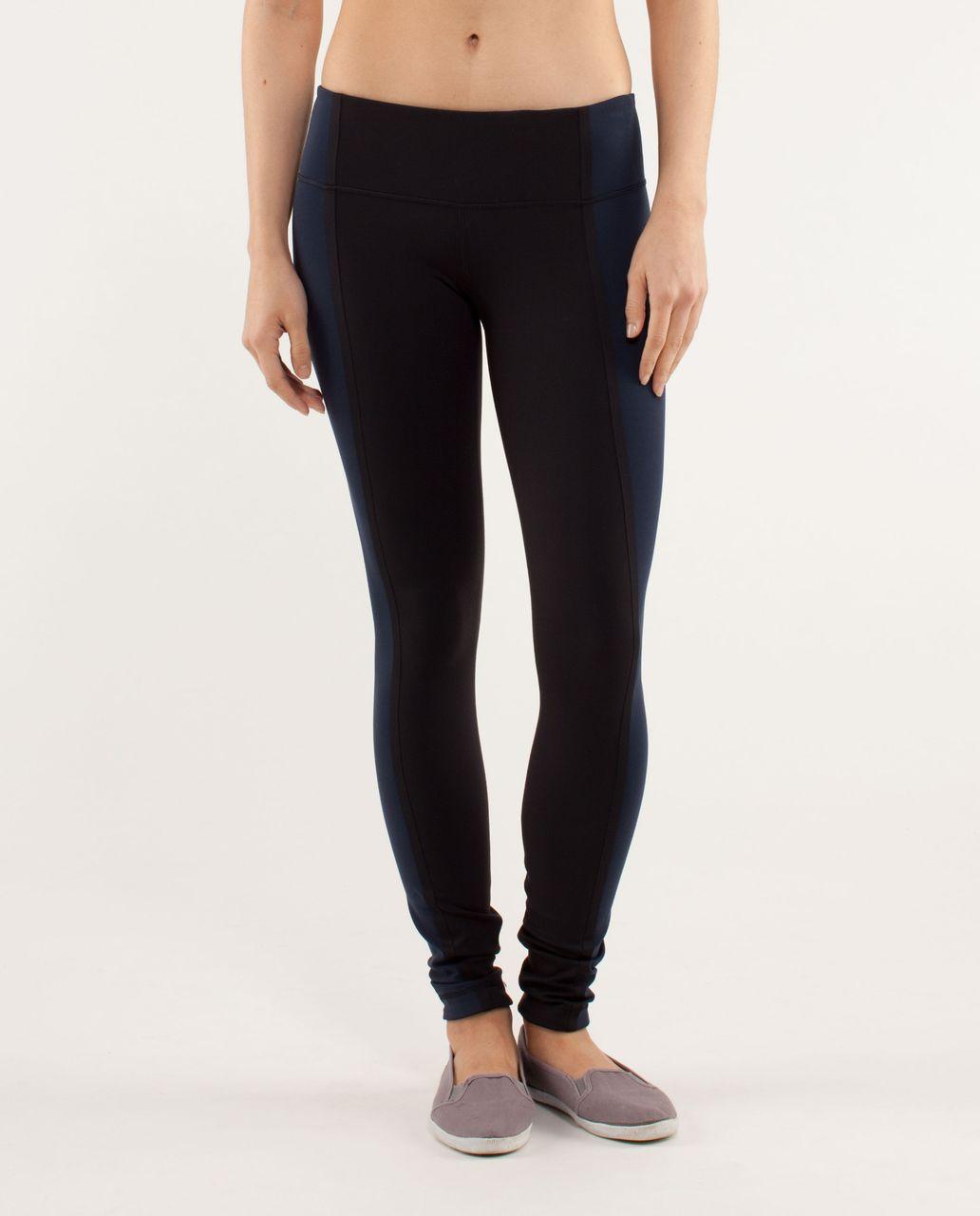 Lululemon Wunder Under Pant *Bonded Stripe - Black / Black / Black / Inkwell