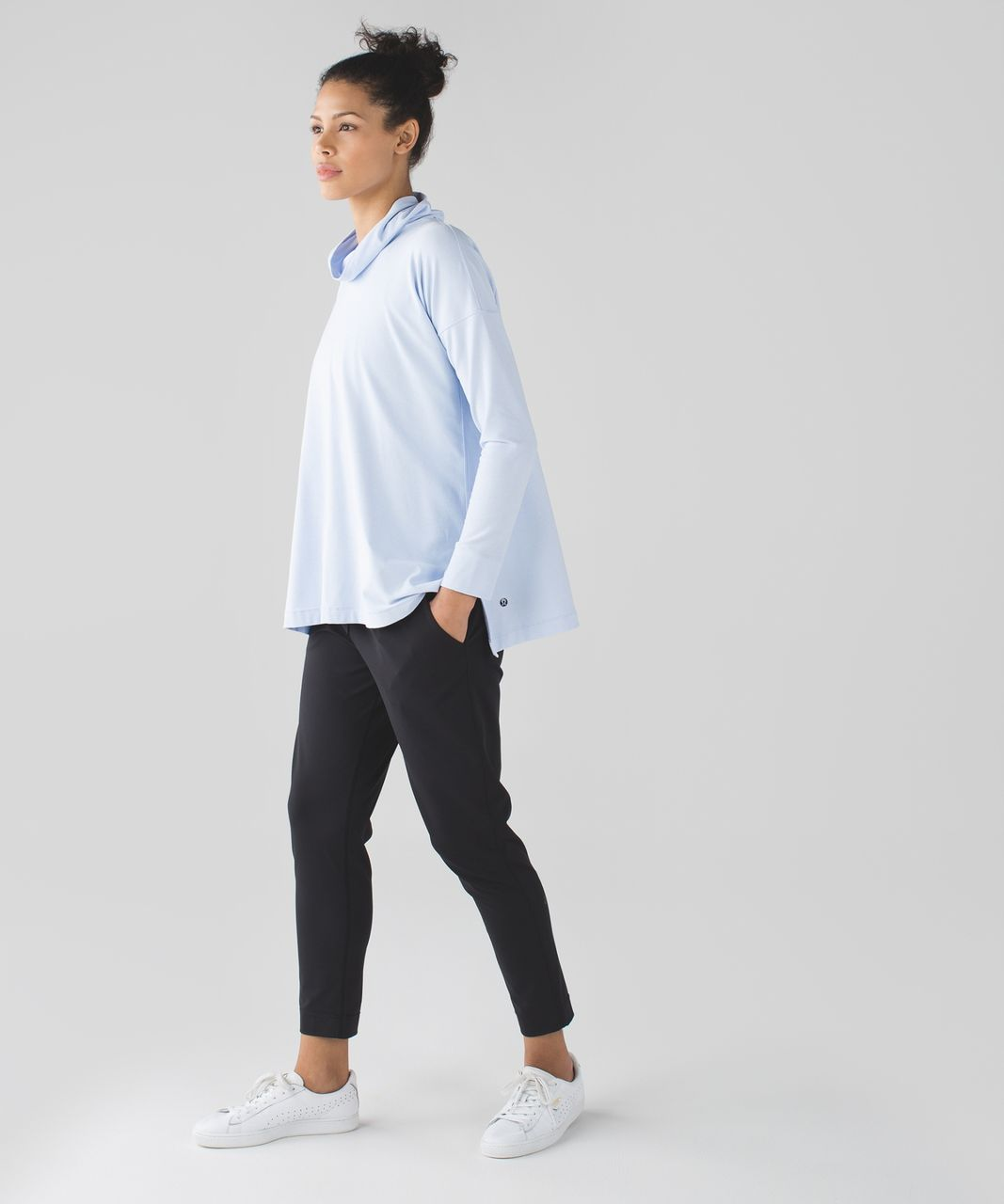 Lululemon On The Move Long Sleeve - Heathered Chalk