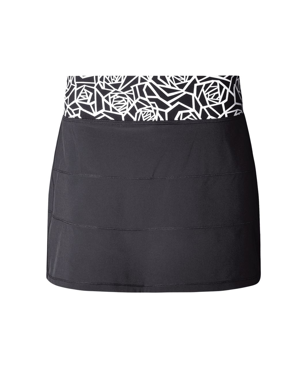 Lululemon Pace Rival Skirt II (Tall) - Black / Posey Black White