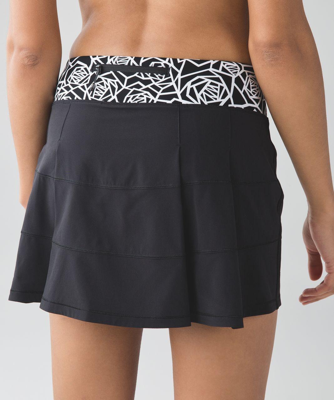 Lululemon Pace Rival Skirt II (Tall) - Black / Posey Black White