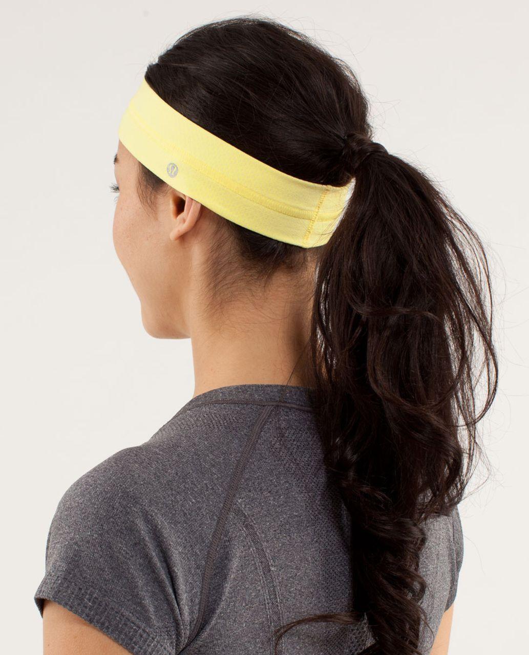 Lululemon Fly Away Tamer Headband - Mellow Lemon