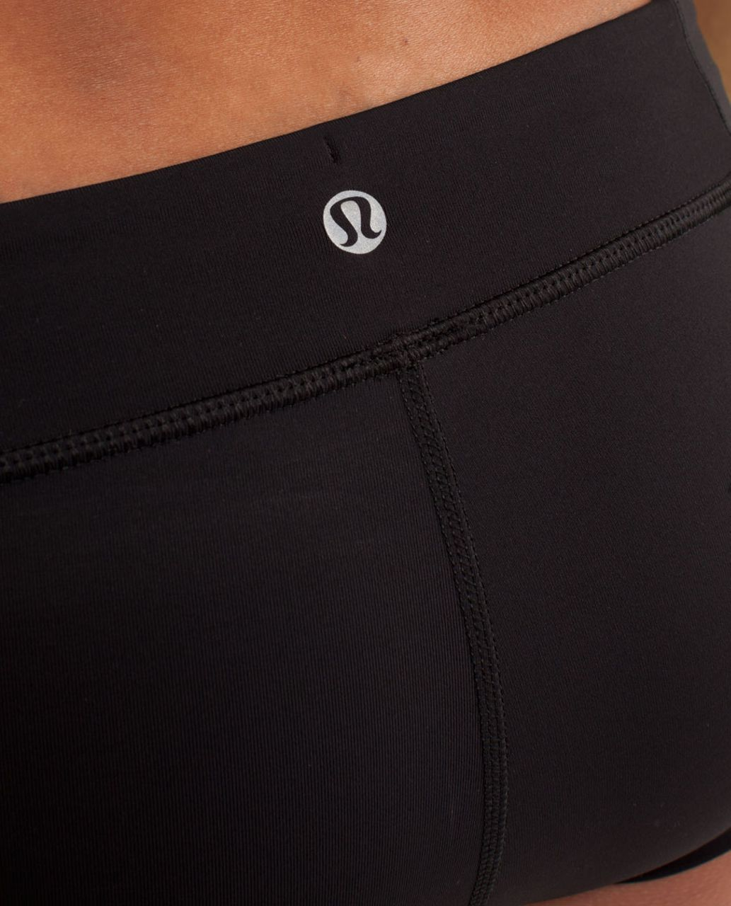 Lululemon Heat It Up Short - Black / Faded Zap / Frond